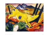 The Yellow Cow Giclée-tryk af Franz Marc