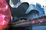 Monorail, Experience Music Project, Designed Frank Gehry, Seattle, Washington, USA Photographic Print by Charles Sleicher