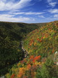 View of Blackwater Canyon in Autumn, Blackwater Falls State Park, West Virginia, USA Photographic Print by Adam Jones