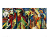 Stables Giclee Print by Franz Marc