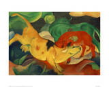 Cows, yellow, red green Giclee Print by Franz Marc