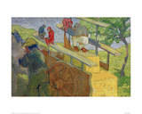 Monkey on a Cart Giclee Print by Franz Marc
