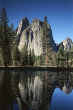 View of Valley's Sheer Rock with Pond, Yosemite National Park, California, USA Photographic Print by Paul Souders