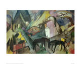 The Poor Land of Tyrol Giclee Print by Franz Marc