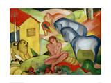 The Dream 1912 Impression giclée par Franz Marc