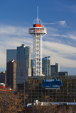 City Skyline with Elitch Gardens Theme Park Tower, Denver, Colorado, USA Photographic Print by Walter Bibikow