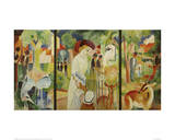 Zoological Garden Triptych Giclee Print by Franz Marc