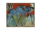 Blue Foal Giclee Print by Franz Marc