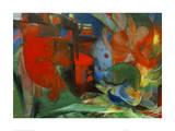 Abstract Forms II Impression giclée par Franz Marc