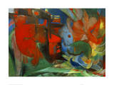 Franz Marc - Abstract Forms II - Giclee Baskı
