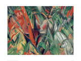 In the rain 1912 Giclee Print by Franz Marc