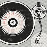 Vintage Analog Record Player Plakater af Michael Mullan