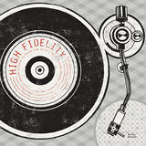 Vintage Analog Record Player Print by Michael Mullan