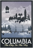 Columbia Retro Travel Poster Kunstdruck
