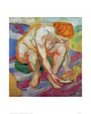 Nude with cat 1910 Giclee Print by Franz Marc
