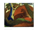 Crouching Deer Posters by Franz Marc