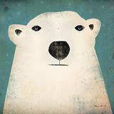 Polar Bear Poster af Ryan Fowler