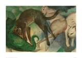 Cats Playing Giclee Print by Franz Marc