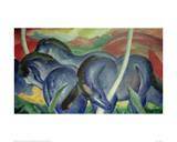 Large Blue Horses, 1911 Impression giclée par Franz Marc