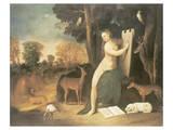 Circe And Her Lovers In A Landscape Giclee-tryk i høj kvalitet af Dosso Dossi