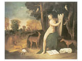 Circe And Her Lovers In A Landscape Premium Giclee Print by Dosso Dossi