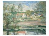 Cezanne - Oise Valley Premium Giclee Print