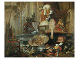 Allegory of Vanities of the World Premium Giclee Print by Pieter Boel