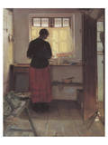 Girl in the Kitchen Reproduction giclée Premium par Anna Kirstine Ancher