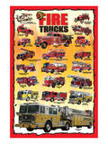 Fire Trucks for Kids Giclée-Premiumdruck