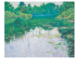 Grey Day on the Charles, 1894 Premium Giclee Print by John Leslie Breck