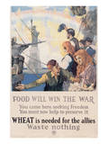 Food Will Win The War Premium Giclee Print by Charles E. Chambers