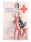 I Summon You To Comradeship In The Red Cross Premium Giclee Print by Harrison Fisher