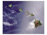 NASA - Hawaiian Islands Wydruk giclee premium