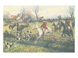 Full Cry through the Homestead Premium Giclee Print by G. Wright