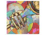 Music 02 Giclee-tryk i høj kvalitet af Kurt Novak