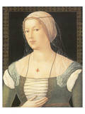 Portrait Of A Young Woman Premium Giclee Print by Girolamo di Benvenuto