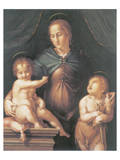 The Virgin And Child With The Young Saint John The Baptist Premium Giclee Print by Pier Francesco Foschi