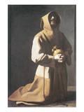 St. Francis Kneeling Premium Giclee Print by Francisco de Zurbarán