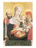 Virgin And Child With Saints Paul And Jerome Premium Giclee Print by Bartolomeo Vivarini