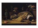 Still Life with Dead Birds Premium Giclee Print by Christoffel van den Berghe