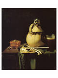 Still life with Pitcher and Beer Glass Premium Giclee Print by Pieter van Anraadt