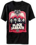 Black Sabbath - Red Flames Shirt
