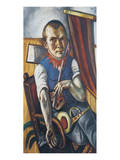 Self-Portrait Dressed as a Clown Premium Giclee Print by Max Beckmann
