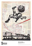 Bicycle Kick Collectable Print by William Kentridge