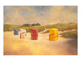 Summer Beach I Premium Giclee Print by Graham Reynolds