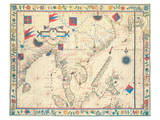 The Far East (from a portolan atlas, 1571) Premium Giclee Print by Fernao Vaz Douado