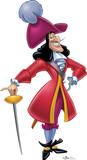 Captain Hook - Peter Pan Disney Villain Lifesize Standup Cardboard Cutouts