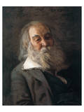 Portrait Of Walt Whitman Premium Giclee Print by Thomas Cowperthwait Eakins