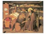 Saint Jerome In His Study Giclee-tryk i høj kvalitet af Niccolo Antonio Colantonio