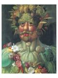 Rudolph II As Vertummus Premium Giclee Print by Giuseppe Arcimboldo